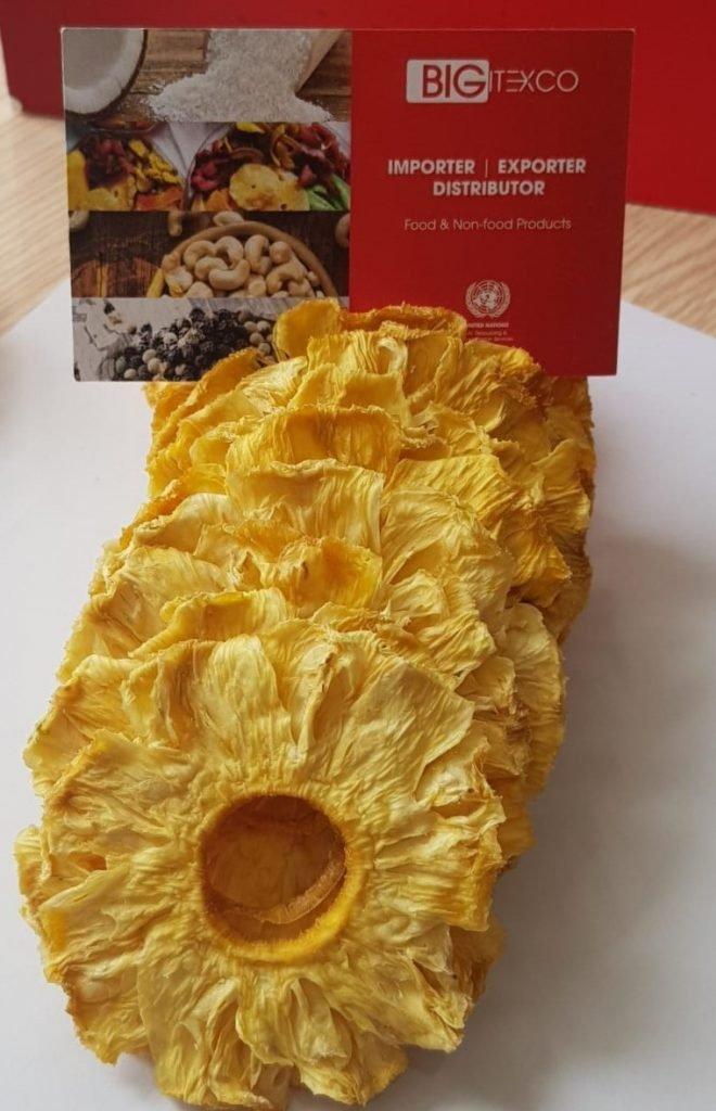 Pineapple No Sugar Added Dried Bigitexco New - Bigitexco Vietnam Cashew Nut - Pepper - Dried Fruit Company